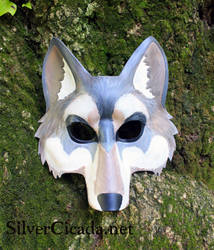 Leather Wolf Mask First Attempt by SilverCicada