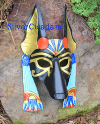Greater Anubis Leather Mask by SilverCicada