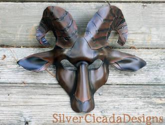 Dark Phase Leather Goat Mask by SilverCicada