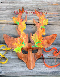 Hern Leather mask in Autumn colors. by SilverCicada