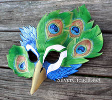 Peacock Mask by SilverCicada