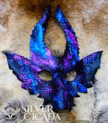 Galaxy Dragon Leather Mask v2 by SilverCicada