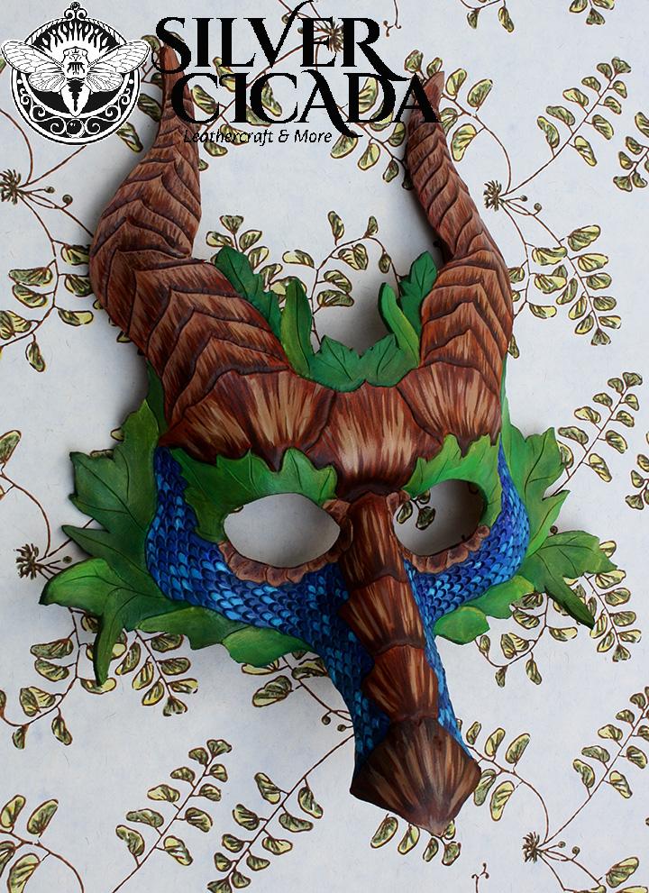 Leather Sea Dragon Mask by SilverCicada