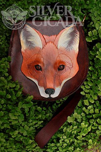 Leather fox bag by SilverCicada