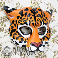 Jaguar Leather Mask