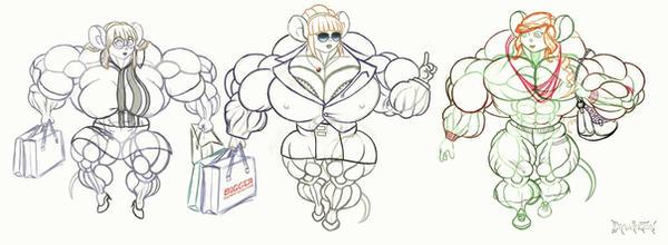 Mousegirl Shopping Spree - Drawington by Strangerataru