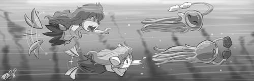 Underwater Shellkini Pursuit - Shonuff44 by Strangerataru