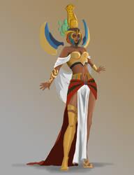 Sand Priestess Karma - WIP by floydix