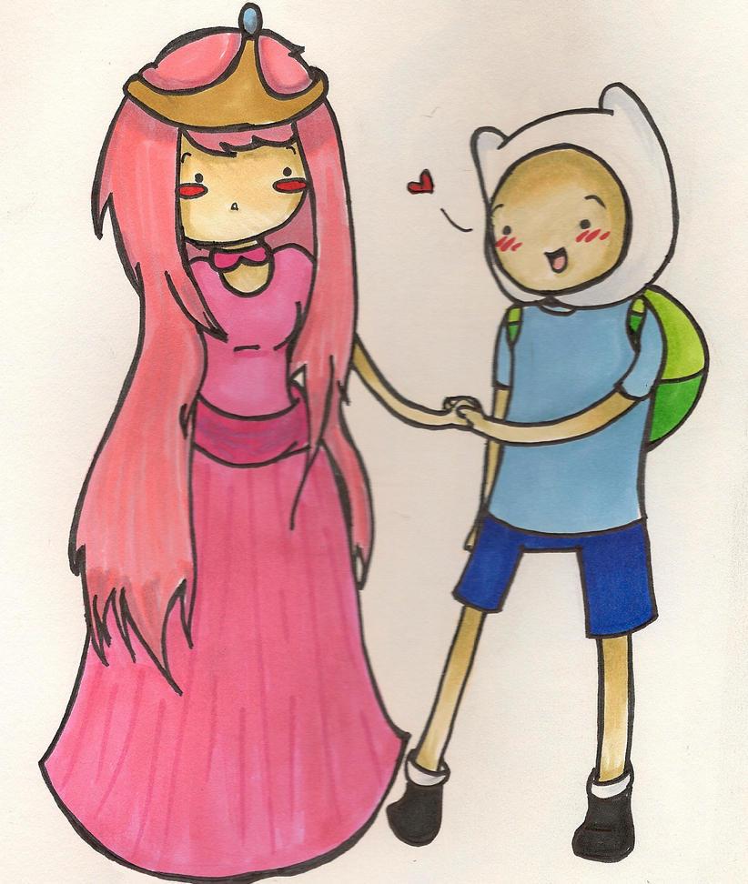 AT-Finn and Princess Bubblegum by bearinacave on DeviantArt