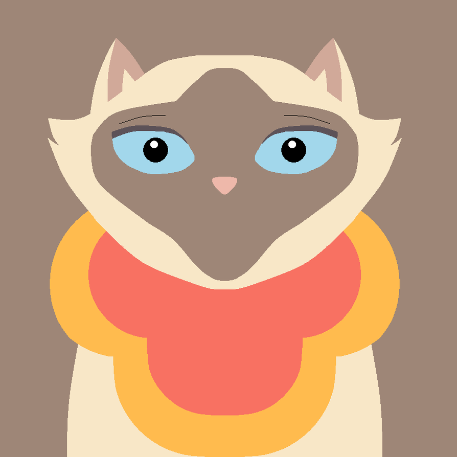Portrait of the Chinese, Siamese Cat by saffronpanther