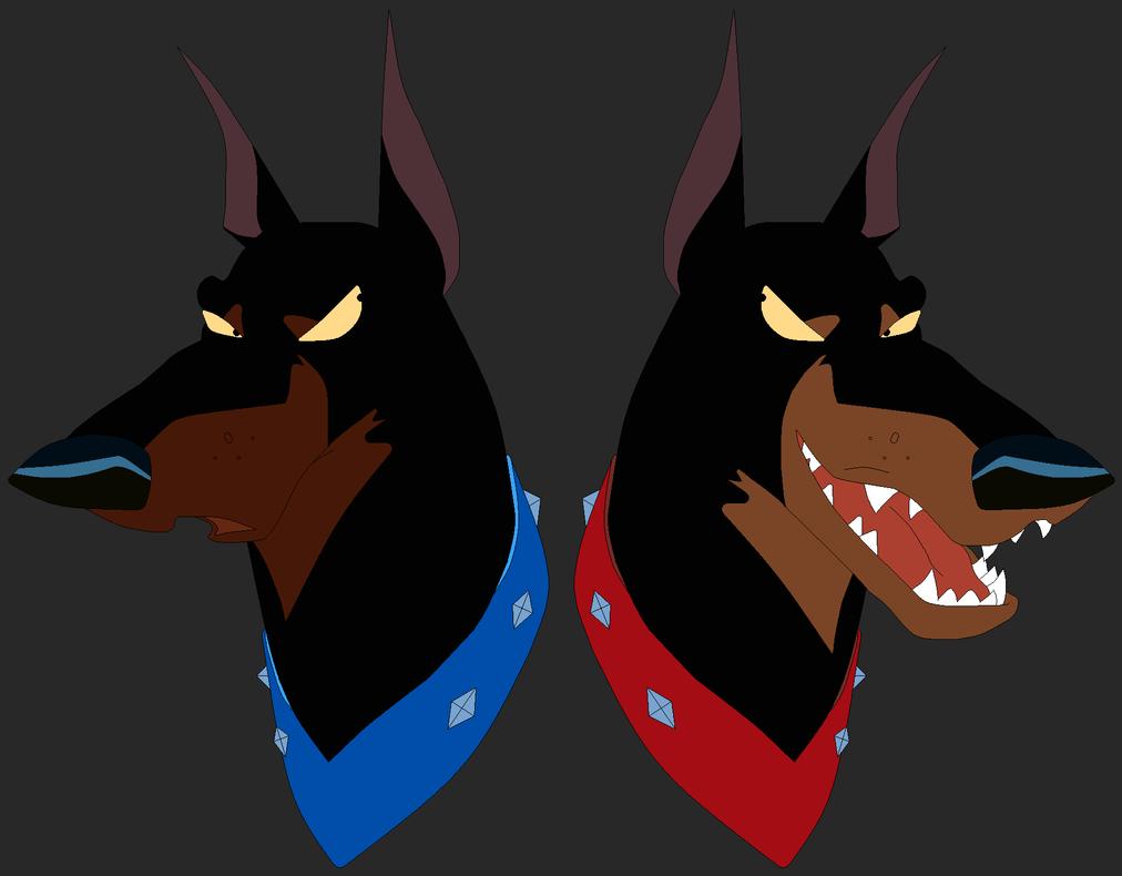 Two Tough Dogs by saffronpanther