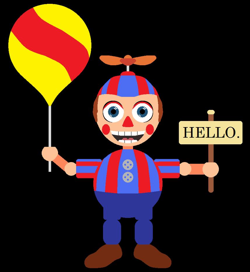 Balloon boy says hello by saffronpanther