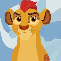 Leading Lion by saffronpanther