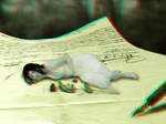 In my words - 3d Anaglyph