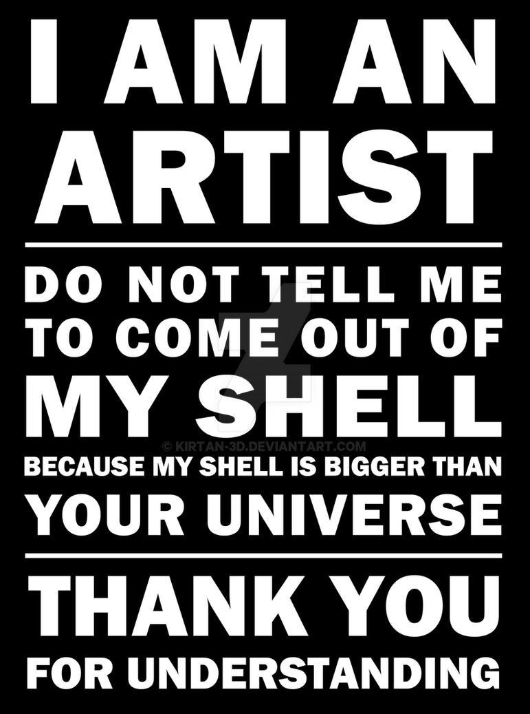 I'm an Artist 03 by Kirtan-3d