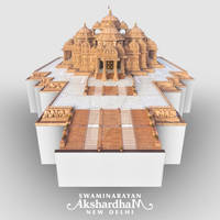 Isometric - Akshardham, New Delhi