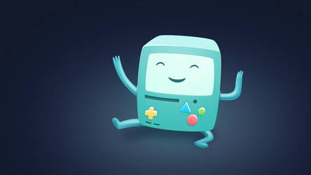BMO Wallpaper from Adventure Time by TinyLab