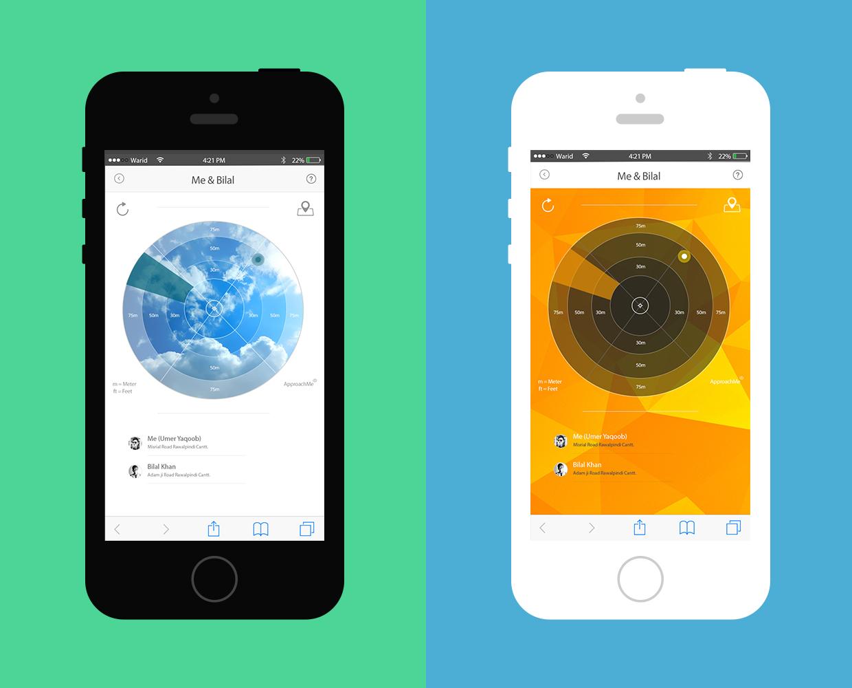 mobile radar app by umer yaqoob on deviantart. Black Bedroom Furniture Sets. Home Design Ideas