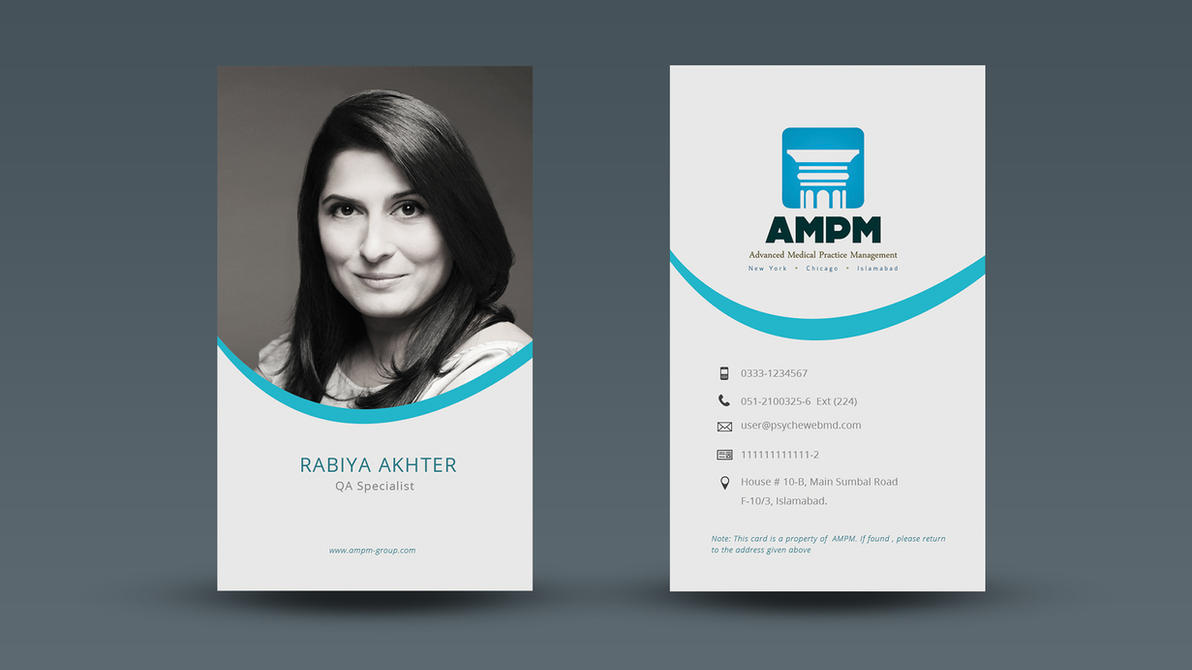 Office Id Card By Umer Yaqoob On Deviantart