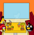 Angry Birds at Augustin Burger