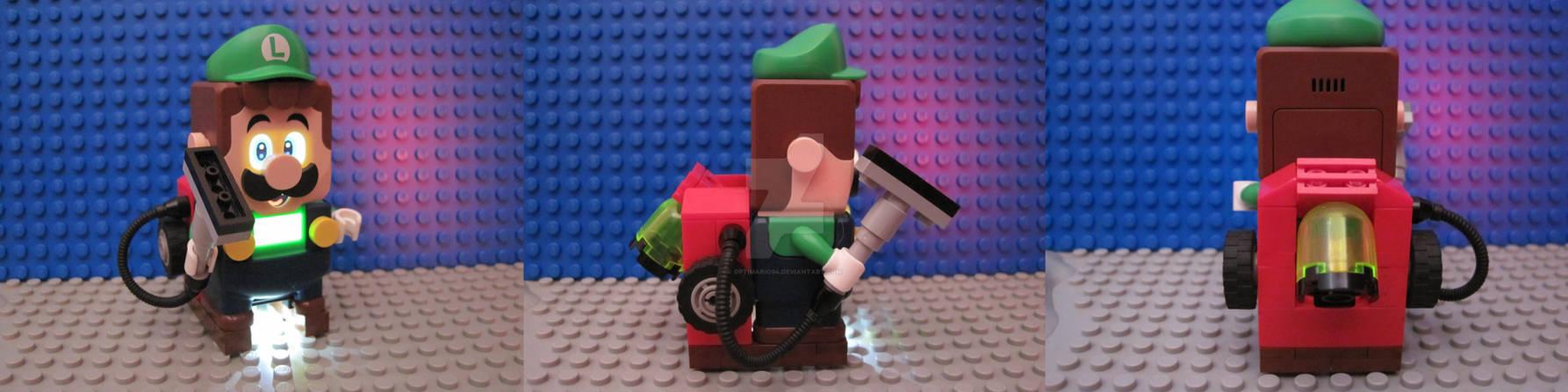 Lego Luigi with Poltergust
