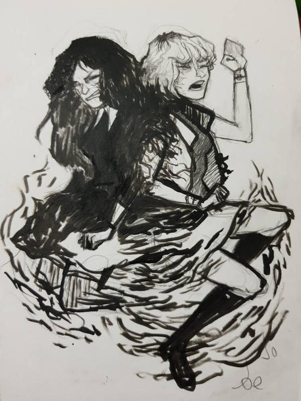 Inktober Day 2: Divided by doc-earnhardt