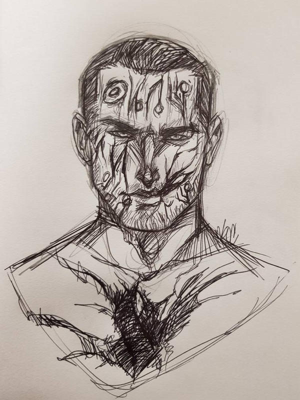 Inktober + Goretober Day 3: Gashes/Lacerations  by doc-earnhardt