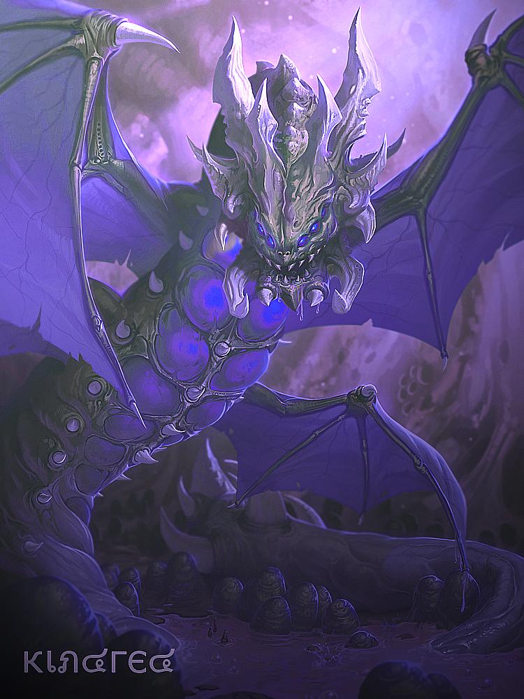 SMITE - Kukulkan Void Wyrm Purple Dead by KindredFS