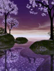 Purple Romance-Scene Stock