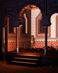 Arabian Alcove-Scene Stock
