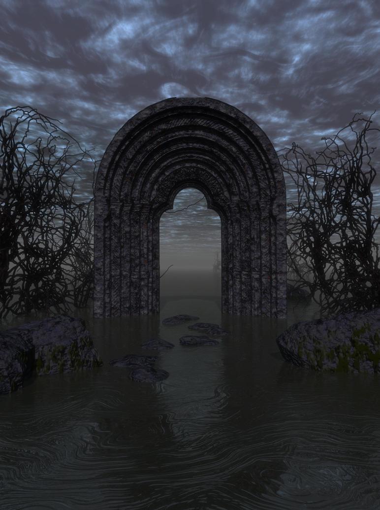 Dark Archway-Scene Stock by shd-stock