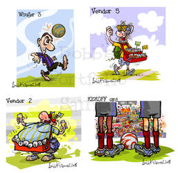 Soccer players for card game. by Bobbart