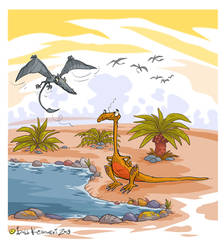 Cartoon Dinos 02 by Bobbart