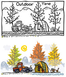 Outdoor clipart illustration