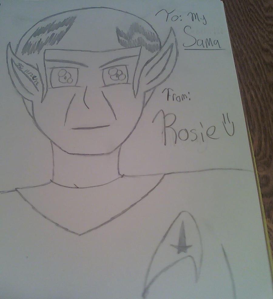 Mr. Spock- SKETCH by KrisshysBlackROSE