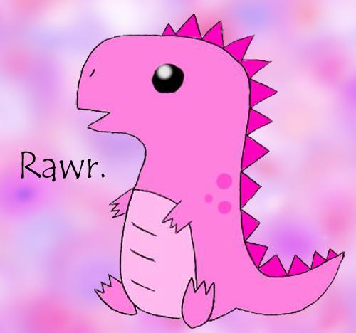 Cute pink t rex by psyckostinamuffin on deviantart