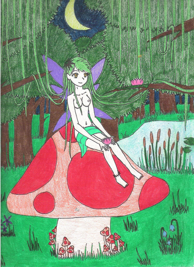 Forest Fairy by PsyckoStinaMuffin