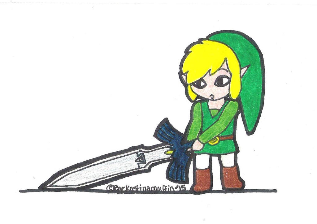 Link's Sword Is Too Big. by PsyckoStinaMuffin