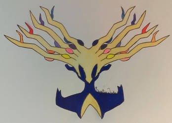 Xerneas Inspired by PsyckoStinaMuffin