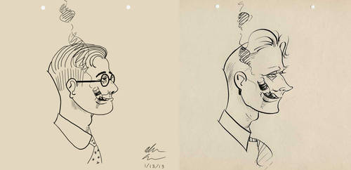 Natwick Style Self Caricature by GoldenEraFan