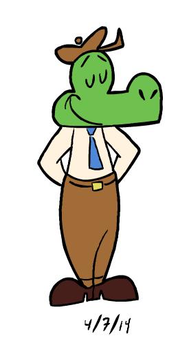 Cartoon Modern Gator by GoldenEraFan