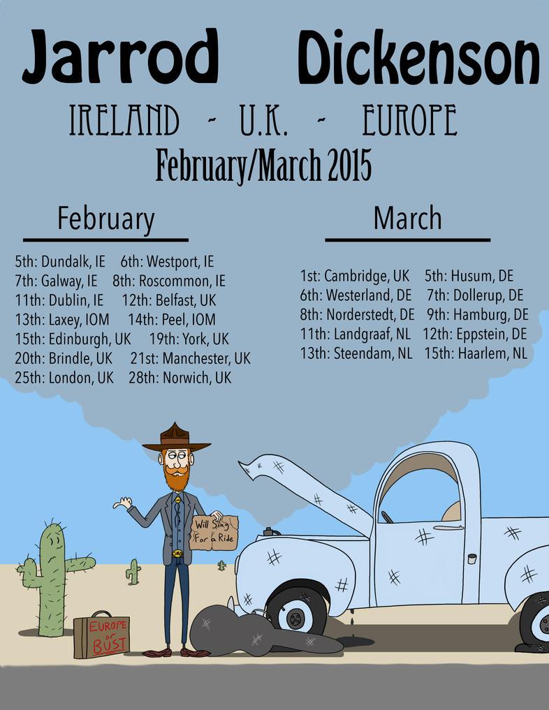 Jarrod Dickenson Tour Poster by GoldenEraFan