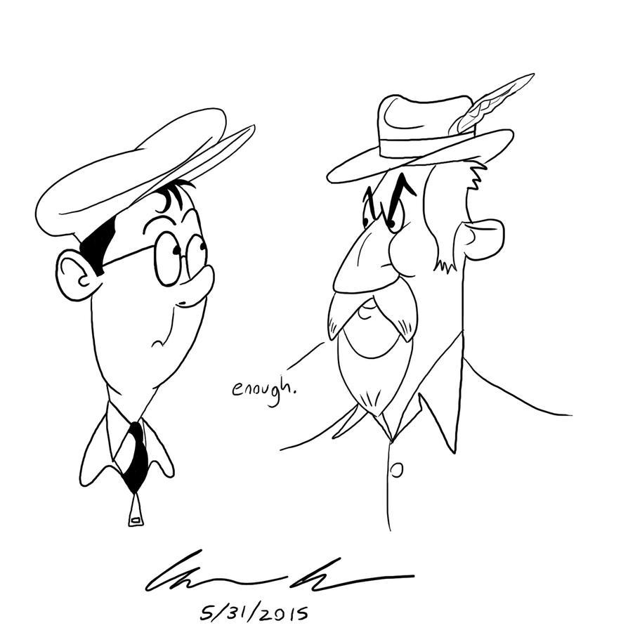 Homage to Albert Uderzo by GoldenEraFan