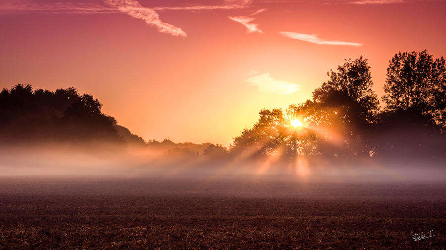 Sunrise on the countryside by David-Turmel
