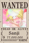 Sanji's New Wanted Poster