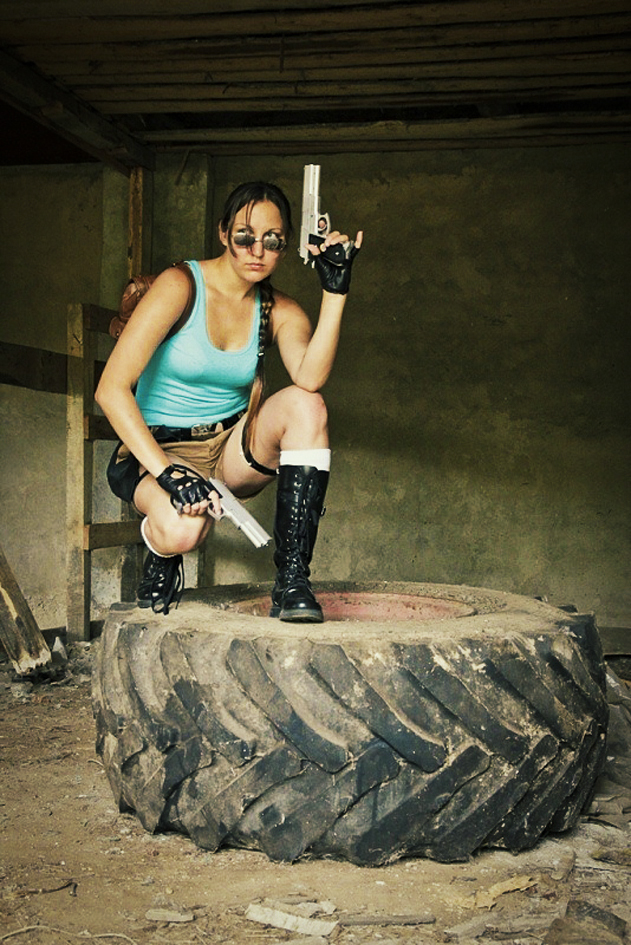 Lara croft cosplay by OneMorePike