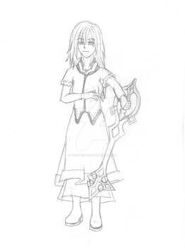 Kairi - Princess of Darkness Pencil