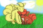 Chibi Vulpix and Ninetales: Sunny Afternoon