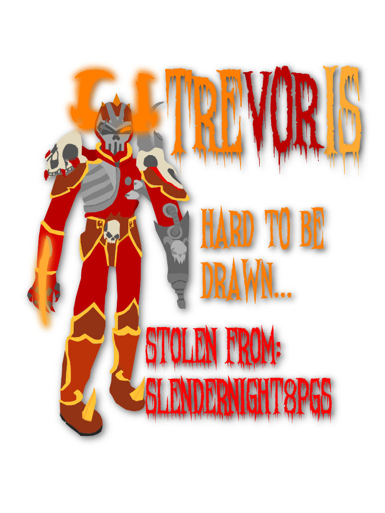 Digital Trevoris (glowing with text)
