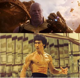 Bruce lee vs Thanos